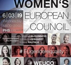 Il mio intervento al Women's European Council di Brussels